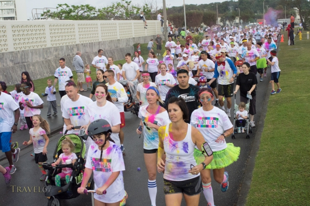 USO Color Blast 5km Fun Run, Okinawa, Japan. Sept 22, 2014