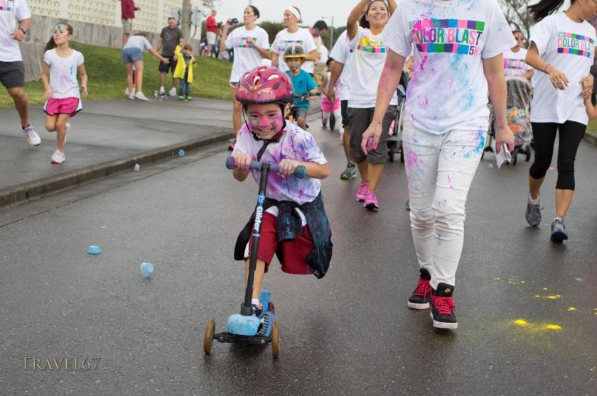 USO Color Blast 5km Fun Run, Okinawa, Japan. Sept 22, 2014