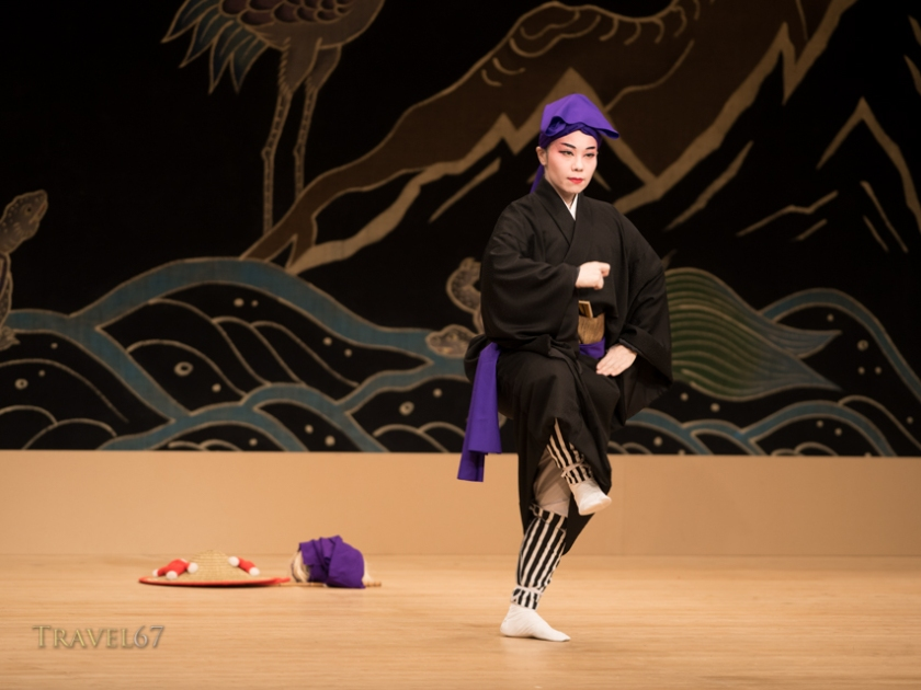 Dancer Kazue Higa at the National Theatre Okinawa.