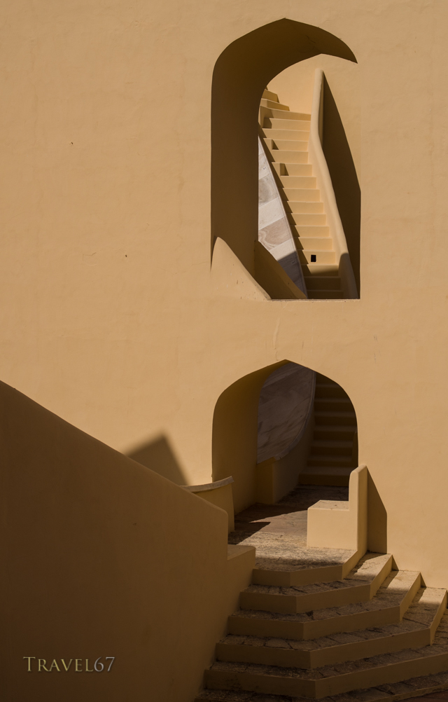 Astronomical Devices at Jantar Mantar Observatory - Jaipur, Rajasthan, India