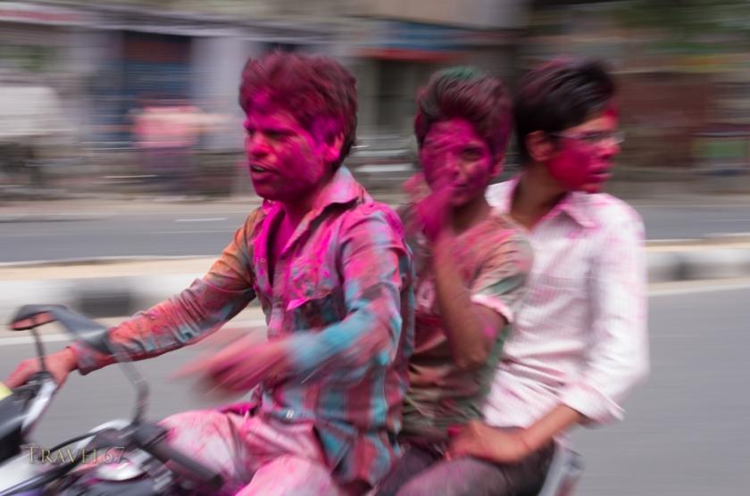 Holi, Festival of Colors, a Hindu Festival - Jaipur, Rajasthan, India