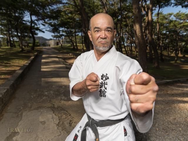 Masaru Higa 8th dan Okinawa Shorin-ryu Karate-Do Myobu-kan Yomitan Chapter Dojo - Zakimi Castle, Yomitan