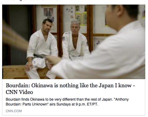 Anthony Bourdain in Okinawa - Dojo Bar James