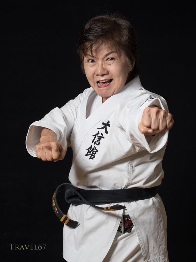 Nobuko Oshiro, Kyoshi, 8th dan Okinawa Karate-do Shorinryu, Taishinkan Association
