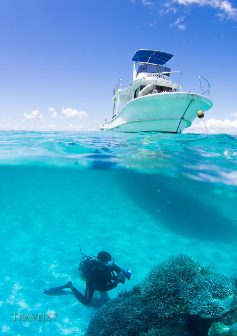 Scuba Diving off Taketomi Island, Ishigaki, Okinawa