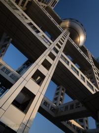 Fuji Television Studios Building, Odaiba, Tokyo, JAPAN. Designed by architect Kenzo Tange