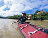 Kayaking in the mangroves, Ginoza.