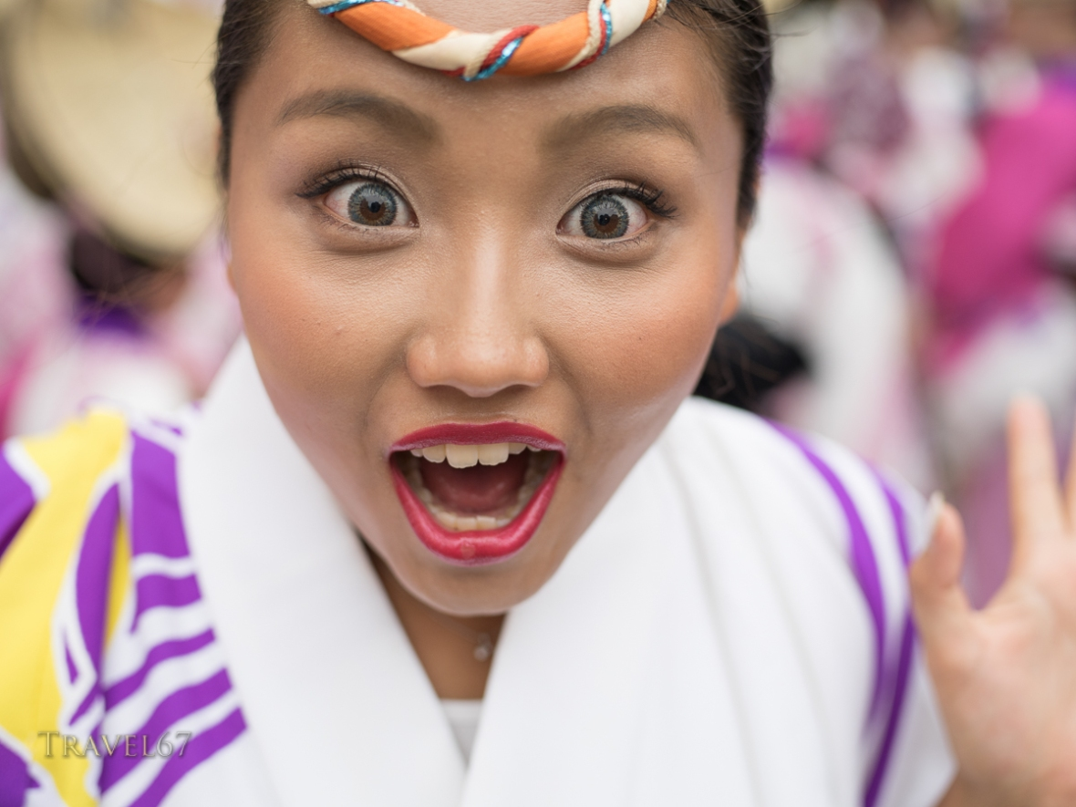 Koenji Awa Odori, a traditional dance festival held in Koenji, Tokyo, Japan. Sun. August 24th 2014