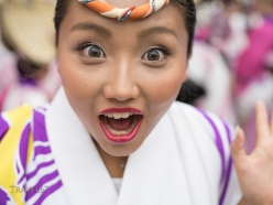 Koenji Awa Odori, a traditional dance festival held in Koenji, Tokyo, Japan. Sun. August 24th 2014