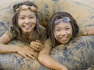 Kin Town Mud Festival, Okinawa, Japan.