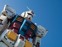 18-meter Gundam Statue in front of DiverCity Tokyo Plaza, Odaiba, Tokyo.