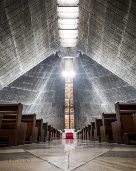 St. Mary's Cathedral Tokyo, designed by Japanese architect Tange Kenzo (dedicated in 1964)