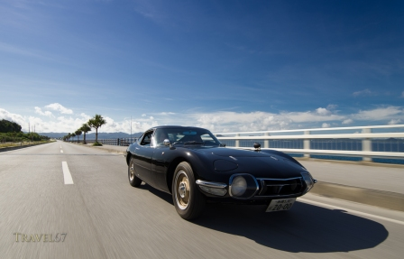 Toyota 2000GT cruising on Okinawa's roads.