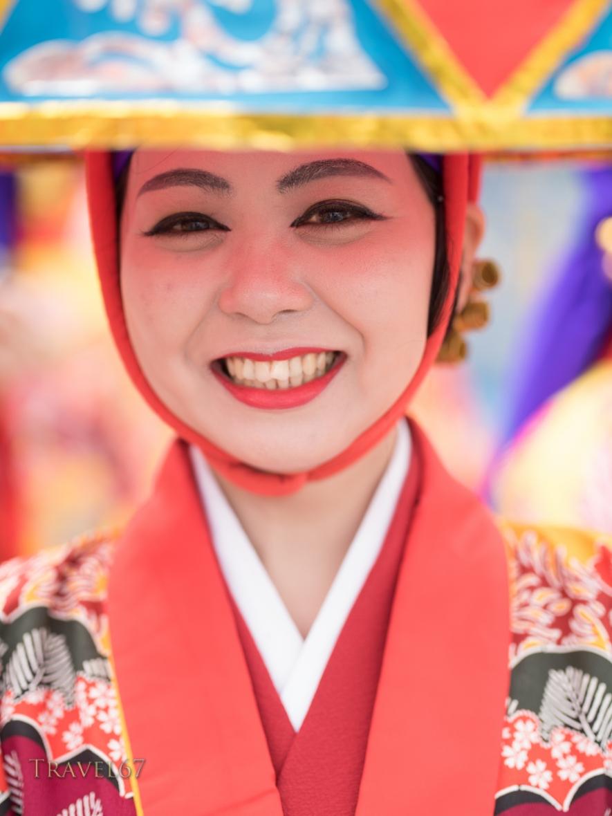 Ryukyu Dancer on Kokusai Street at Naha City Festival