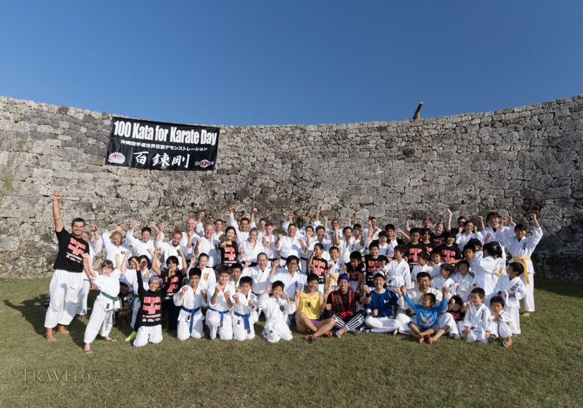 100 Kata for Karate Day event at Zakimi Castle, Okinawa, Japan