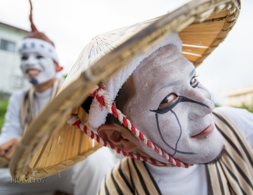 Chondara at the Heshikiya Eisa Festival, Katsuren, Okinawa, Japan
