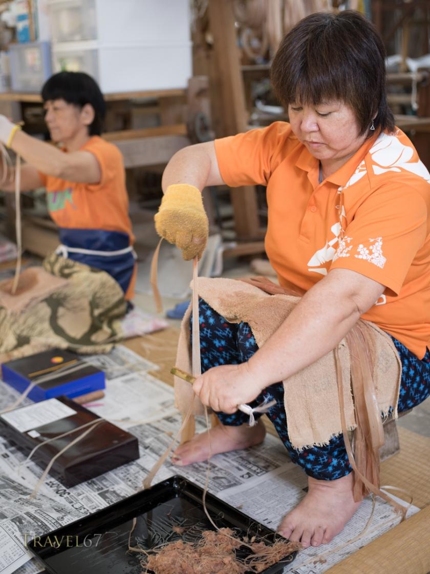 Bashofu production at Ogimi Village Bashofu Hall, Kijoka, Ogimi, Okinawa