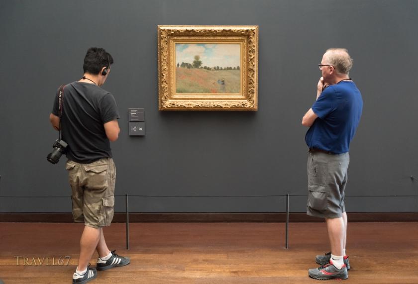 Coquelicots  by Claude Monet at The Musée d'Orsay museum, Paris, France