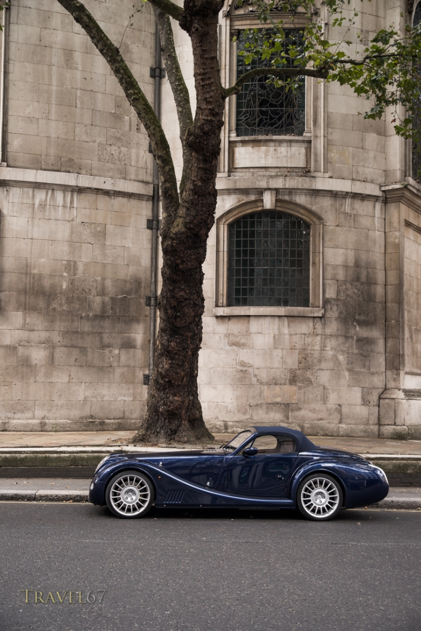 Morgan Aero 8 Sports Car on The  Strand, London, England.