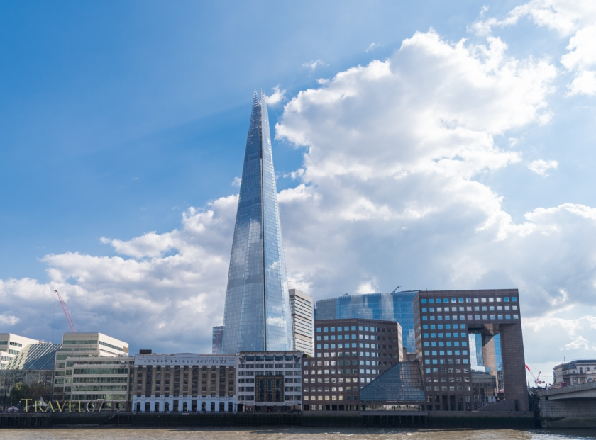 The Shard tower by the Thames River Southwark, London