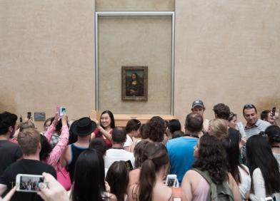Leonardo da Vinci's Mona Lisa, the Louvre's most popular attraction. Paris, France