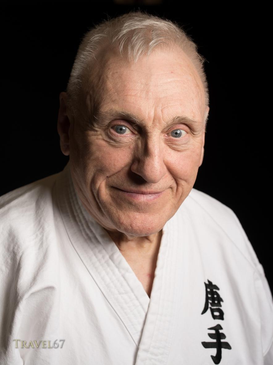 Portait Of Terry Wingrove At The Karate Kaikan Okinawa