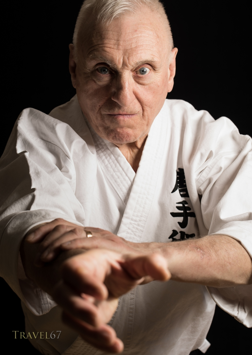 Portait of Terry Wingrove at the Karate Kaikan, Okinawa, Japan