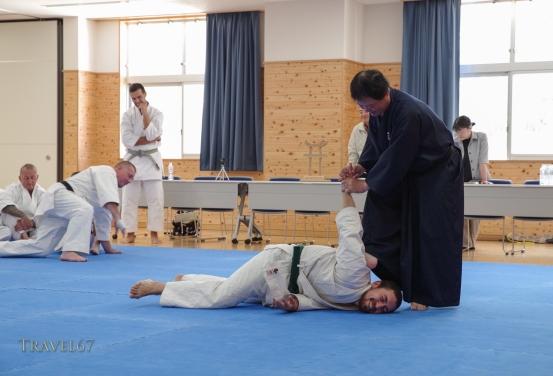 Isao Yagi teaching at Karate Kaikan, Okinawa, Japan.