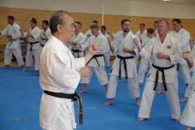 Yoshio Kuba teaching at Karate Kaikan, Okinawa, Japan.