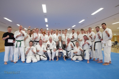 Terry Wingrove teaching at Karate Kaikan, Okinawa, Japan.