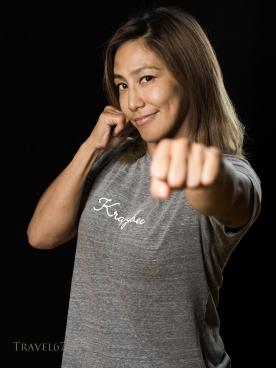 Miyuu Yamamoto at Krazy Bee Gym, Itoman City, Okinawa, Japan