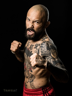 Norifumi Kid Yamamoto at Krazy Bee Gym, Itoman City, Okinawa, Japan