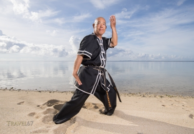 Koichi Nakasone Karate Master 9th-dan Ryukyu Kingdom Sui-di BujutsuPhotographed on July 11th, 2017 Nakijin Village, Okinawa