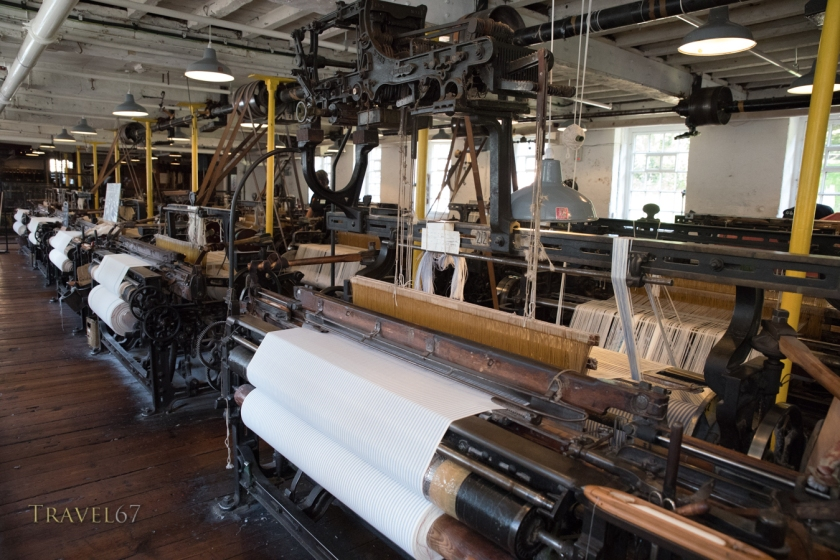 Cotton Looms at Quarry Bank Mill, Styal, Cheshire, England