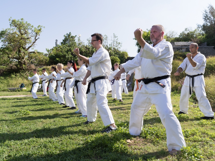 100 Kata for Karate Day October 25th 2018 at Naminoue Shrine  and beach.